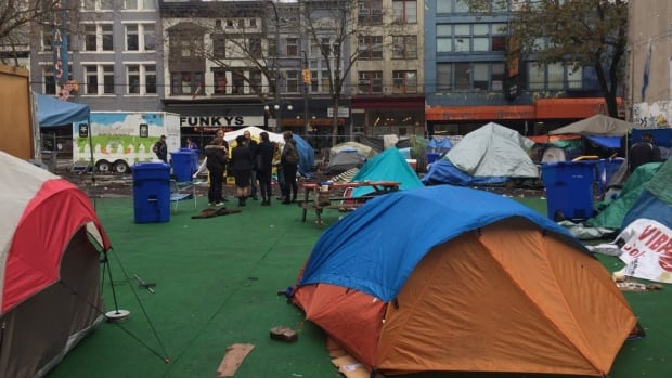 & Vancouver granted injunction to evict tent city campers | CBC News