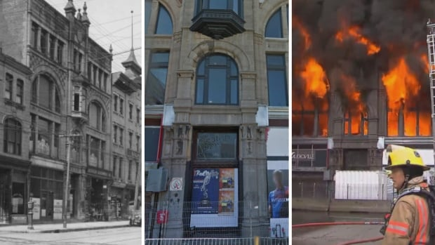 The Robillard Building was built in the late 19th century but fell into neglect in the past few years and then burned completely in about 2 hours Nov. 17, 2016.