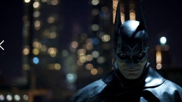Brampton Batman, a.k.a. Stephen Lawrence, patrols the streets of Brampton at night.
