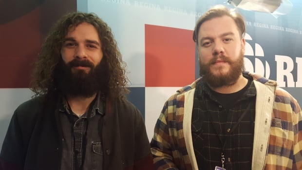 Scott Pringle (left) and Nate Hilts (right) of The Dead South.