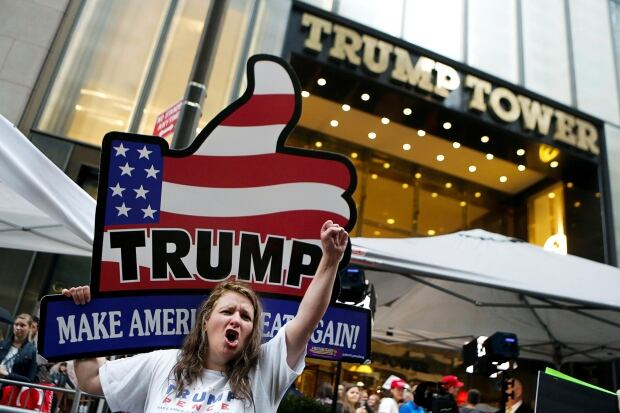 Trump Tower Supporters — New York — Oct. 8, 2016