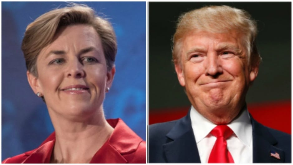 Kellie Leitch, candidate for the leadership of the Conservative Party and U.S. president-elect Donald Trump