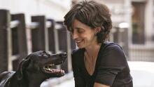 Alexandra Horowitz with dog