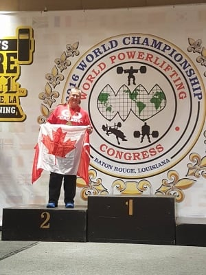 Elssner placed second in her category at last weekend's World Championships.