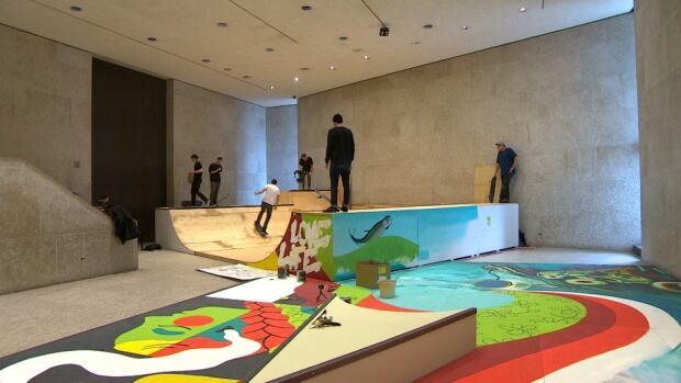 Skateboard halfpipe Winnipeg art gallery WAG