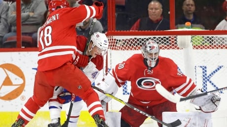 Canadiens Find Road Not So Kind As Hurricanes Storm Back In 3rd (video)