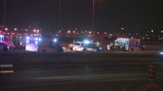 Brampton man dead after hit on Highway 401 in Mississauga