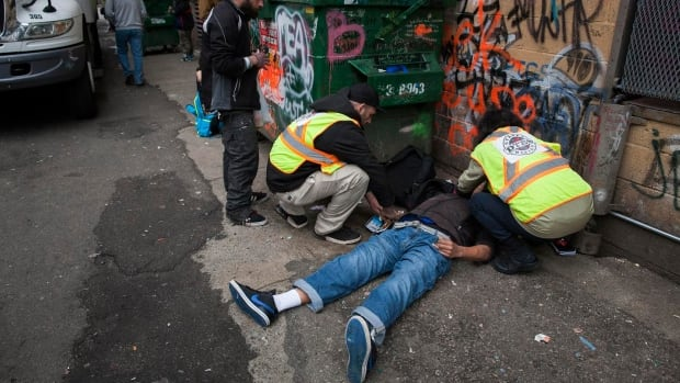 Nurses are describing the Vancouver's Downtown Eastside as a virtual 'battle zone' right now with 175 overdoses in a five day period.