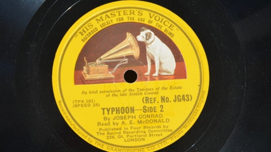 Side 2 of the Royal National Institute of Blind People's 1935 recording of Joseph Conrad's novella 'Typhoon'