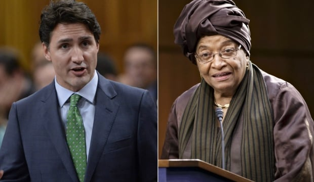 Trudeau and Sirleaf