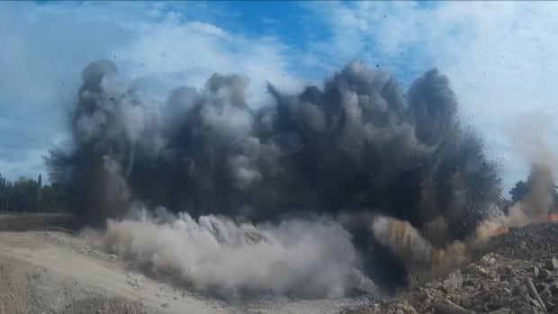 Blasting has started to make way for an open pit mine in the rural community of Moose River Gold Mines, N.S.