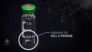 Amount of fentanyl it takes to kill a person