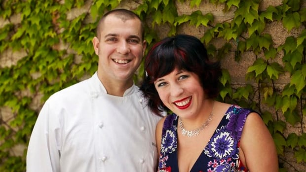 Tobey Nemeth (right) and her husband Michael Caballo own Edulis, a restaurant on Niagara Street that focuses on seafood, vegetables, and wild mushrooms.