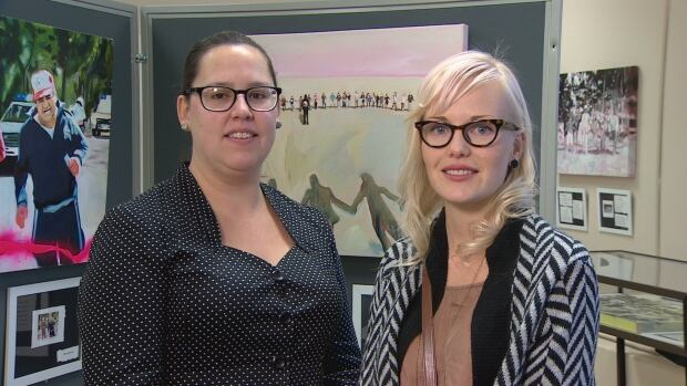 Miranda Jimmy (left) and Jennie Vegt (right) are two of the team of four who worked on the project