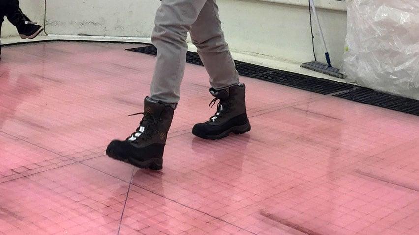 Slippery boots: Most winter footwear