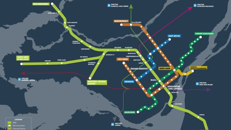 Montreal Subway Map Scale.3 Central Montreal Stations Added To Lrt Plans Cbc News