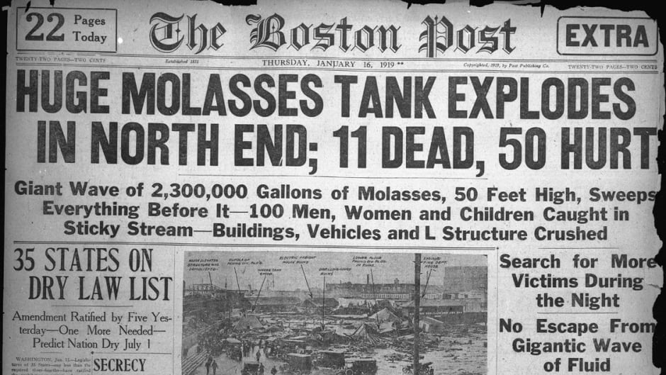 The Jan.16, 1919 edition of The Boston Post describing the Great Molasses Flood.