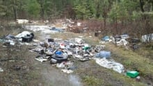 Illegal dumping site near Williams Lake