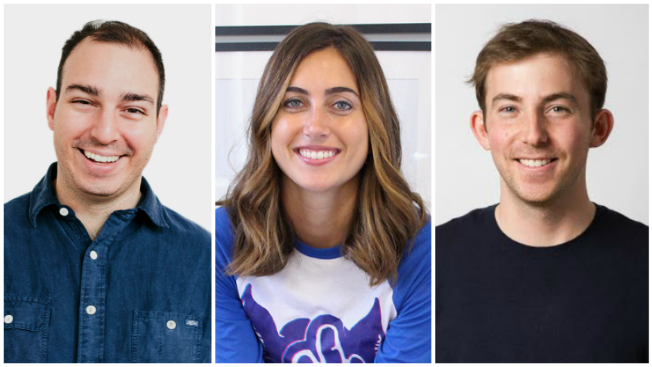 From L to R: : Dr. Joshua Landy, co-founder and chief medical officer for Figure1; Mallorie Brodie, CEO & co-founder of Bridgit; Michael Katchen, founder and CEO of Wealthsimple.