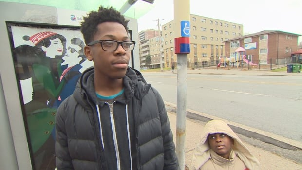 Devontae Hudson, 16, helped Grade 2 student who's new to Canada get to school safely