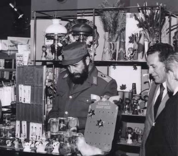 Fidel Castro in the Gander airport gift shop