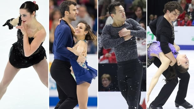 From left to right, Kaetlyn Osmond, Eric Radford and Meaghan Duhamel, Patrick Chan, Tessa Virtue and Scott Moir have all booked their spots in the Grand Prix of Figure Skating Final.