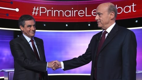 FRANCE ELECTIONS PRIMARIES DEBATE --Alain Juppé and Francois Fillon,-- Paris, France -- Nov 24, 2016
