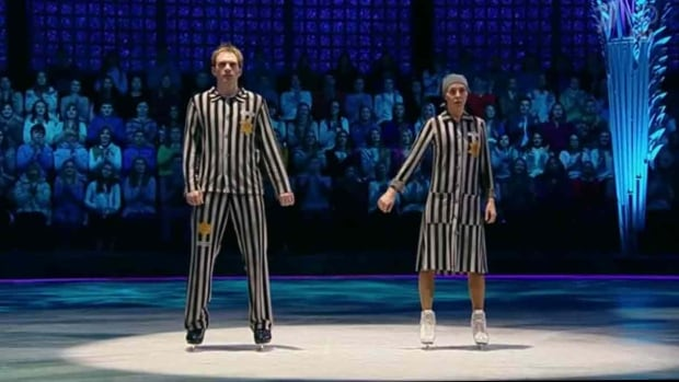Olympic ice-dancing gold medalist Tatiana Navka and her on-ice partner Andrei Burkovsky have caused controversy this weekend for a Holocaust-inspired routine for their appearance on popular Russian television show Ice Age.