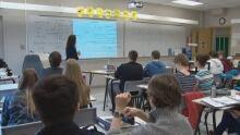 Nova Scotia teacher classroom students