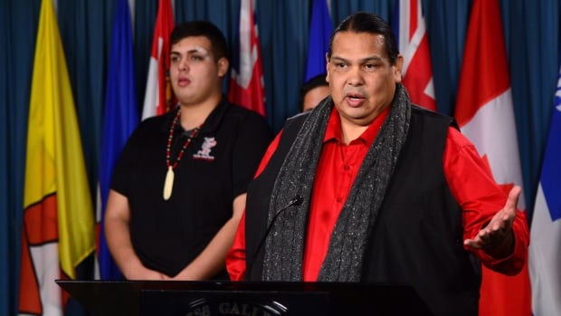 Rueben George, manager of Tsleil-Waututh Nation's Sacred Trust Initiative against Kinder Morgan's Trans Mountain pipeline expansion, said his community will do what it takes to stop construction of the project.