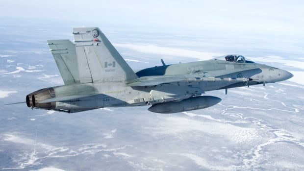 A CF-18 fighter jet, like the one pictured here, crashed near Cold Lake, Alta., Monday, killing the pilot.