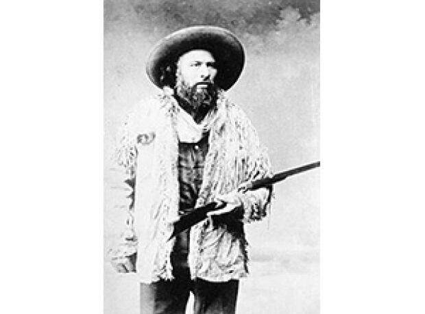 Métis Leader Gabriel Dumont shown in an 1885 photo