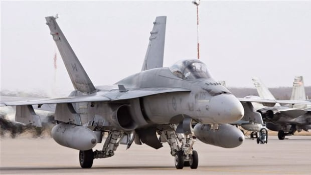 A pilot positions a CF-18 Hornet at the CFB Cold Lake, in Cold Lake, Alta. Documents obtained by CBC News indicate the air force expressed concern that the combat readiness of its fighter jets was declining.