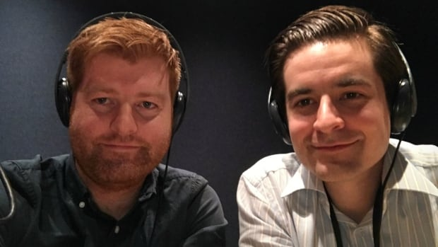 Sam Fenn (left) and Gordon Katic are co-hosts of the Cited podcast, a documentary radio program about research and higher education.
