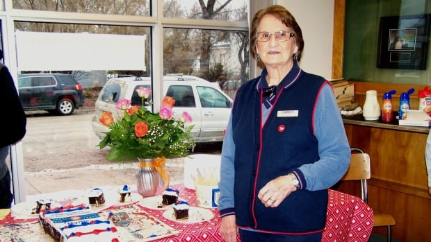 Myrtle Flett is retiring after working at the Winnipegosis post office for more than 60 years.