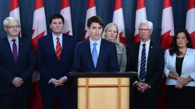 Prime Minister Justin Trudeau announces his government is approving Kinder Morgan's proposal to triple the capacity of its Trans Mountain pipeline from Alberta to Burnaby, B.C. — a $6.8-billion project that has sparked protests by climate change activists.