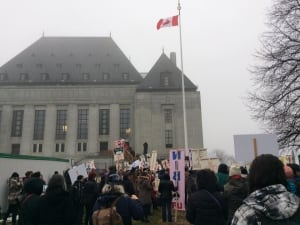 Supreme Court protest Clyde River Chippewas of the Thames