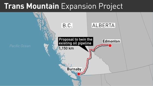 The twinning of the 1,150 kilometre-long Trans Mountain pipeline will nearly triple its capacity to an estimated 890,000 barrels a day and increase traffic off B.C.s coast from approximately five tankers to 34 tankers a month.