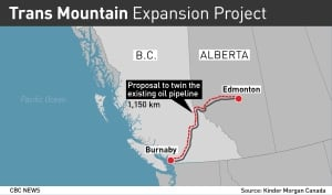 GFX Map: Trans Mountain Expansion Project
