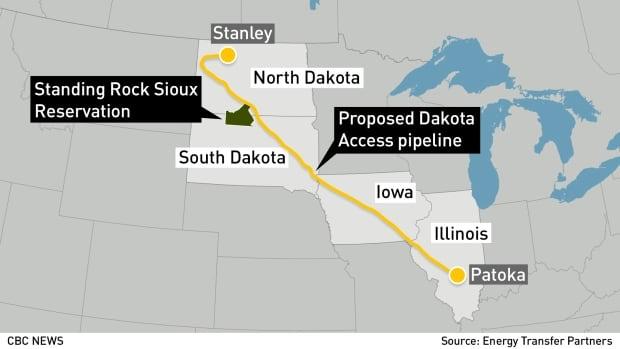 GFX MAP: Dakota Access pipeline with Standing Rock