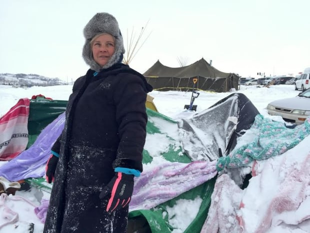 Diana Barker at Standing Rock