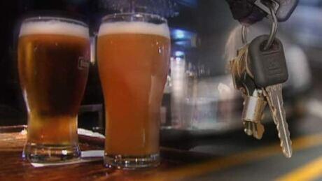Drinking, driving, beer, car keys