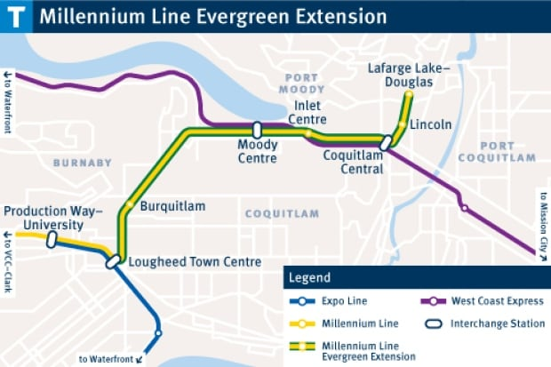 Evergreen Line Map