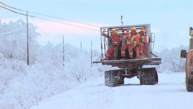 Manitoba Hydro workers