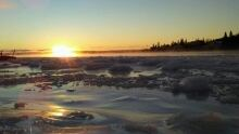 North West River Labrador in a winter morning