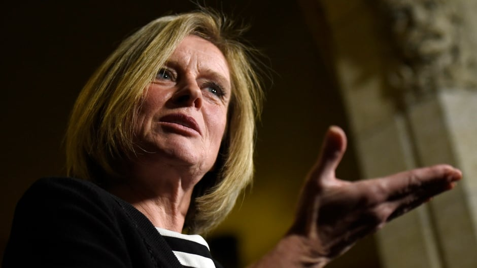 Alberta Premier Rachel Notley said bringing in a PST in Alberta might be talked about in the next election, but she won't move on it before then.