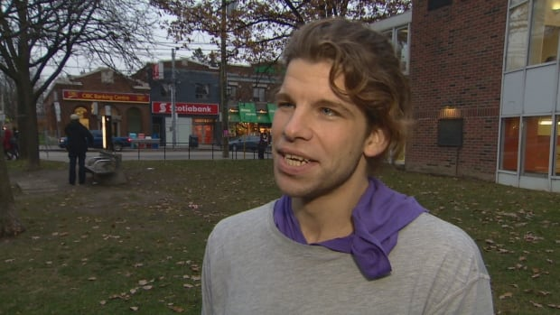 "This 28-year-old, who requested CBC Toronto not name him, said he is among ""hidden homeless."""