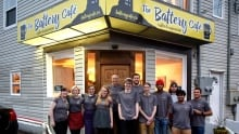 Battery Cafe posed photo