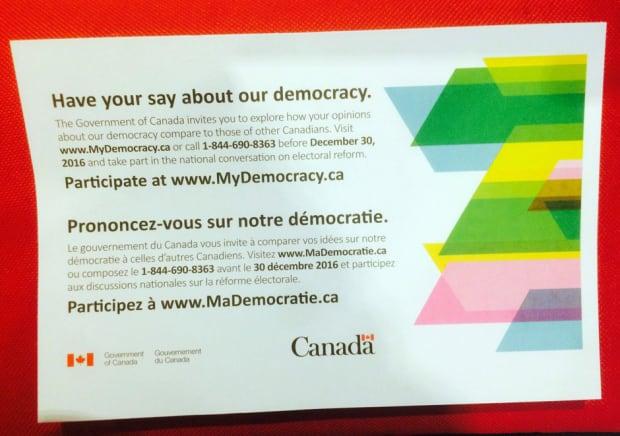 Electoral reform card