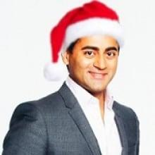 Preet Banerjee in a Santa hat